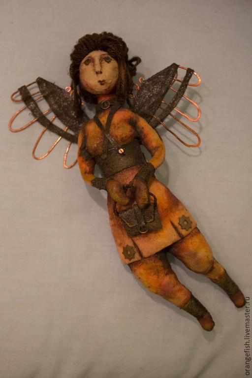 Коллекционные куклы ручной работы. Ярмарка Мастеров - ручная работа. Купить Авторская кукла Летать.. Handmade. Рыжий