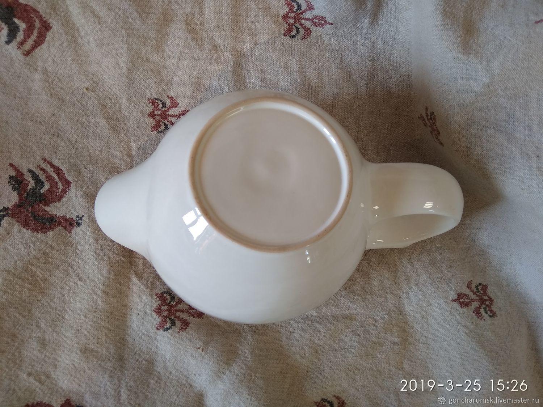 """Скаттл (чаша для бритья) - 11/2 бело-черный """"под пробку"""""""