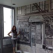 Дизайн и реклама ручной работы. Ярмарка Мастеров - ручная работа Роспись стен в гостиной. Handmade.