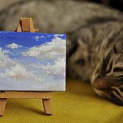 Картины и панно ручной работы. Ярмарка Мастеров - ручная работа Кусочек неба. Handmade.