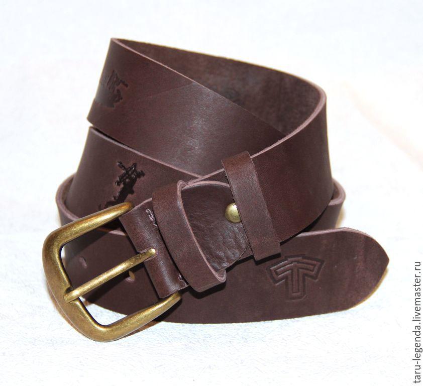 Ремень коричневый кожаный купить в кожаный ремень пряжка автомат