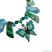 Украшения handmade. Livemaster - original item Butterfly necklace with large stones. Handmade.