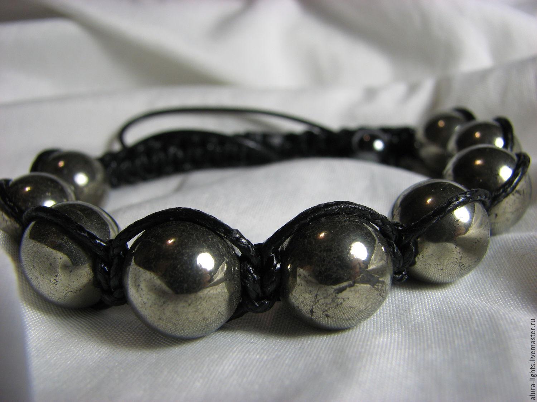 Shamballa bracelet with pyrite 'Gold', Bead bracelet, Moscow,  Фото №1