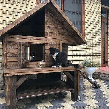 Товары для питомцев ручной работы. Ярмарка Мастеров - ручная работа Уличный дом для кошки. Handmade.