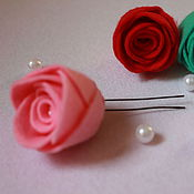 Украшения ручной работы. Ярмарка Мастеров - ручная работа Шпилька с розой. Handmade.