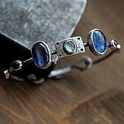 Украшения handmade. Livemaster - original item Women`s sterling silver bracelet with natural stones, silver bracelet. Handmade.