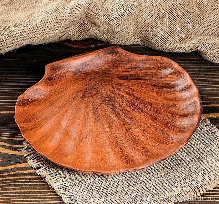 The dish 'Sea Shell' 24cm, Dish, Feodosia,  Фото №1