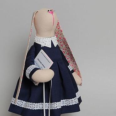 Куклы и игрушки ручной работы. Ярмарка Мастеров - ручная работа Зая-учительница. Handmade.