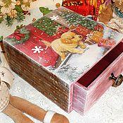 """Для дома и интерьера ручной работы. Ярмарка Мастеров - ручная работа """"Рождественский коттедж"""" короб. Handmade."""