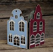 Для дома и интерьера ручной работы. Ярмарка Мастеров - ручная работа Ширма для свечки Домики маленькая. Handmade.