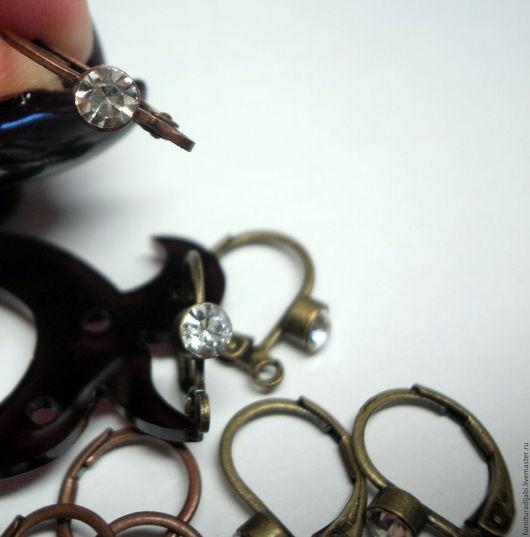 Для украшений ручной работы. Ярмарка Мастеров - ручная работа. Купить Швензы со стразиком (2 цвета). Handmade. Комбинированный