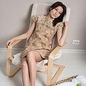 Одежда ручной работы. Ярмарка Мастеров - ручная работа Платье gentle beige. Handmade.