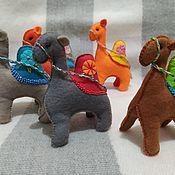 Куклы и игрушки handmade. Livemaster - original item felt toy: Camel,12h10 cm. Handmade.