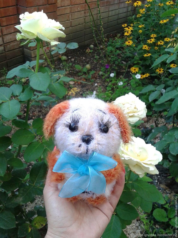 Вязаный щенок, Мягкие игрушки, Невинномысск,  Фото №1