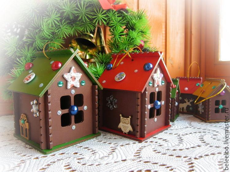 Houses, interior design pendants, set, Christmas decorations, Moscow,  Фото №1