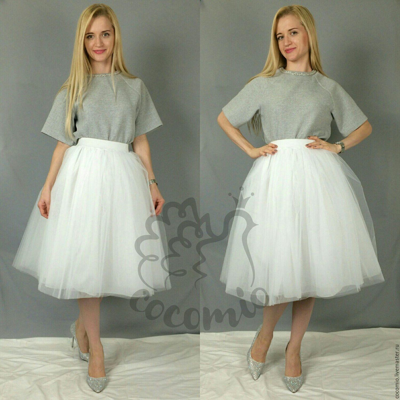 Белая юбка из фатина купить