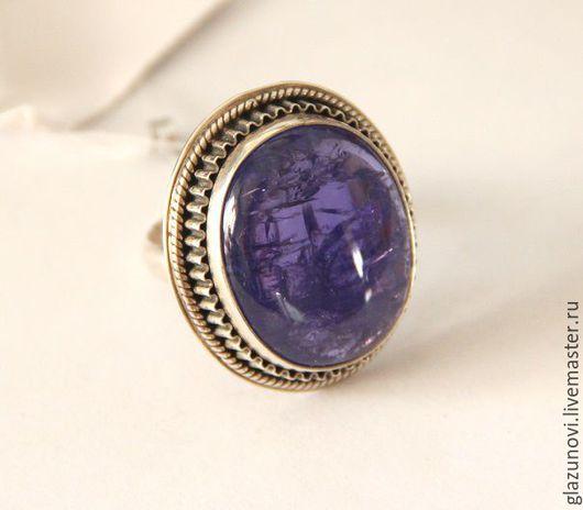 Кольца ручной работы. Ярмарка Мастеров - ручная работа. Купить Серебряное кольцо (925) с танзанитом. Handmade. Синий, камень