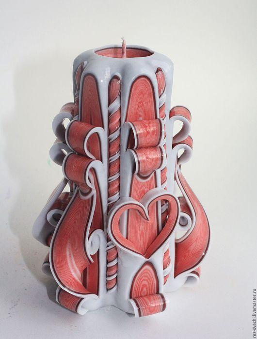 Резная Свеча Малая. Высота 12 см, время горения более 15 ч. Все Свечи надежно упакованы! Купить резные свечи. Резные свечи. Свечи резные интерьерные