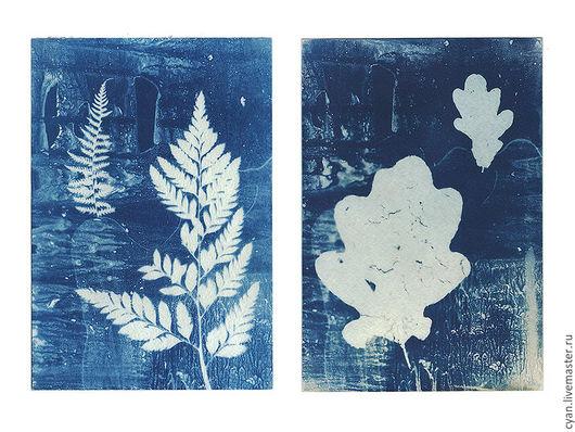 Фотокартины ручной работы. Ярмарка Мастеров - ручная работа. Купить Синий отпечаток фото картинка. Handmade. Синий, постер
