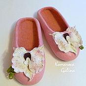 """Обувь ручной работы. Ярмарка Мастеров - ручная работа валяные тапочки """"Orchid"""". Handmade."""