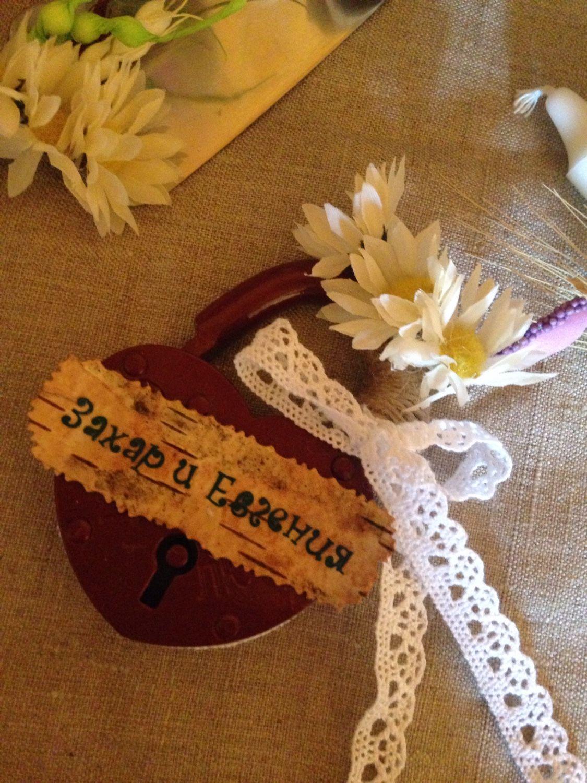 Свадебный замочек в рустикальном стиле, Свадебные аксессуары, Москва, Фото №1
