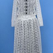Одежда handmade. Livemaster - original item 233 dress knitted down white clothes. Handmade.