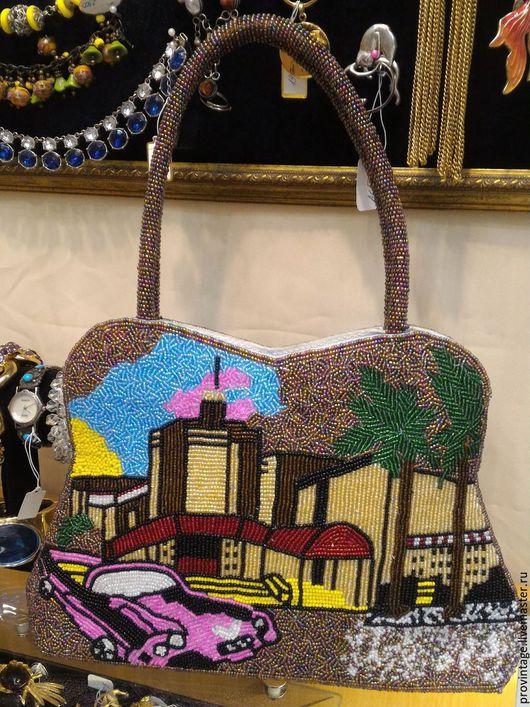 Винтажные сумки и кошельки. Ярмарка Мастеров - ручная работа. Купить Бисерная сумочка. Handmade. Бежевый, провинтаж, сумка, аксессуары