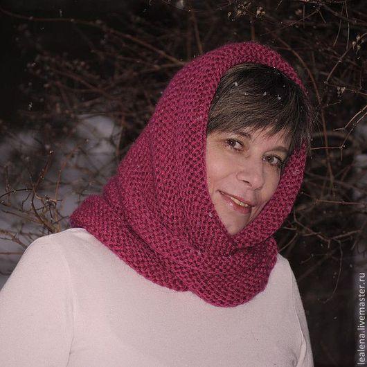 """Шали, палантины ручной работы. Ярмарка Мастеров - ручная работа. Купить Снуд-шарф """"Малинка"""" (полушерсть). Handmade. Шарф"""