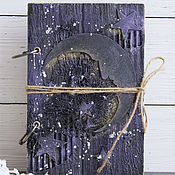 """Канцелярские товары ручной работы. Ярмарка Мастеров - ручная работа Блокнот волшебника """"Ночь"""". Handmade."""
