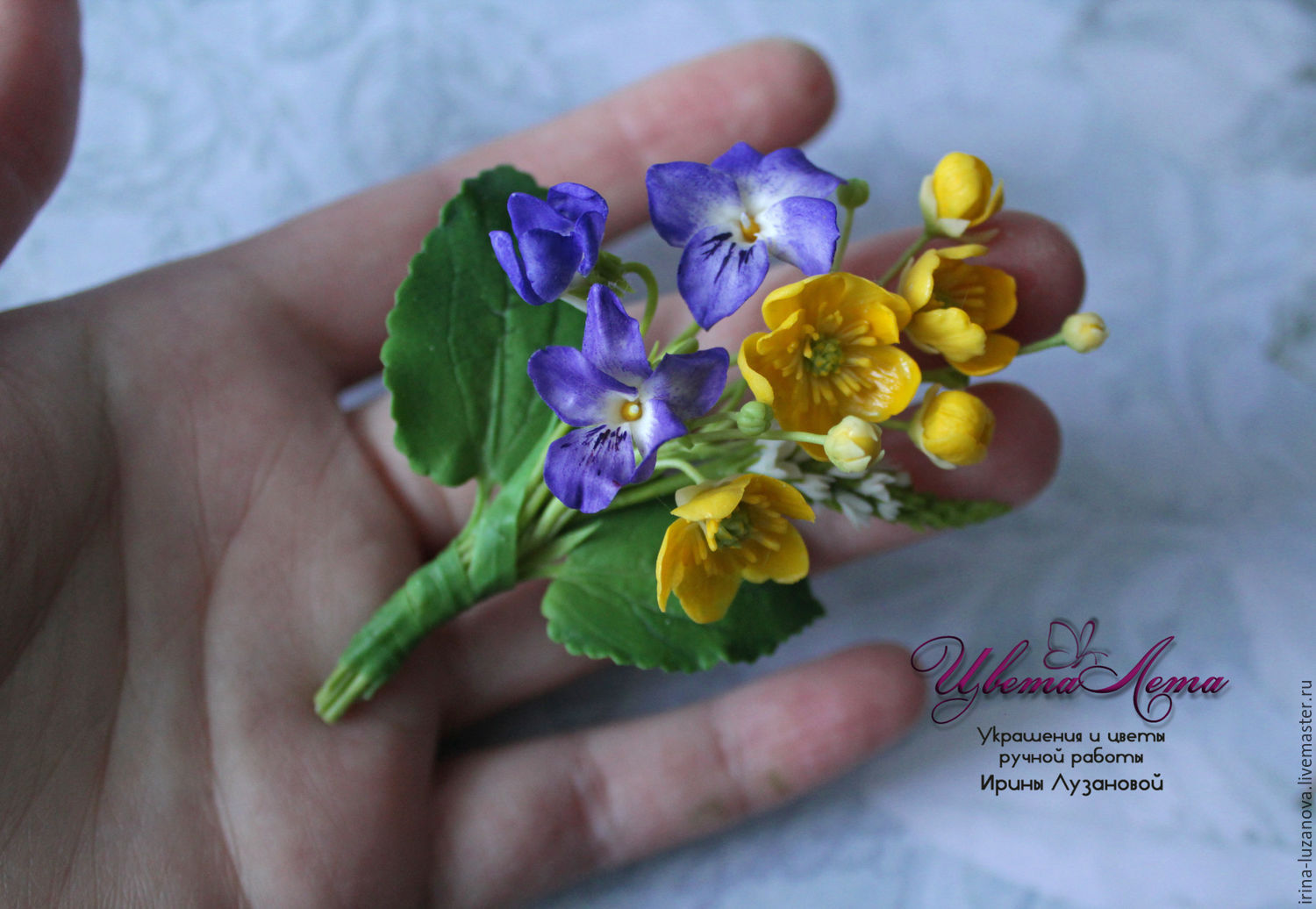 of mini violets may violet valley lily clay miracle the item a order polymer and brooch
