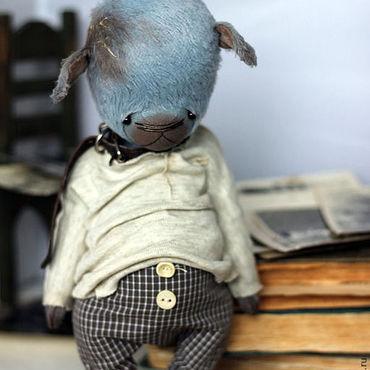 Куклы и игрушки ручной работы. Ярмарка Мастеров - ручная работа Очень Голубой Щенок. Handmade.
