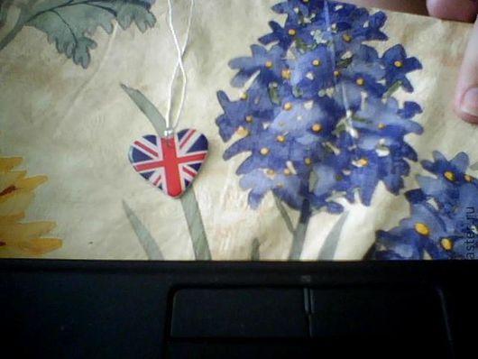 """Кулоны, подвески ручной работы. Ярмарка Мастеров - ручная работа. Купить Кулон """"Британский флаг"""". Handmade. Кулон с британским флагом"""