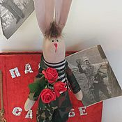 Куклы Тильда ручной работы. Ярмарка Мастеров - ручная работа Тильда зая. Handmade.