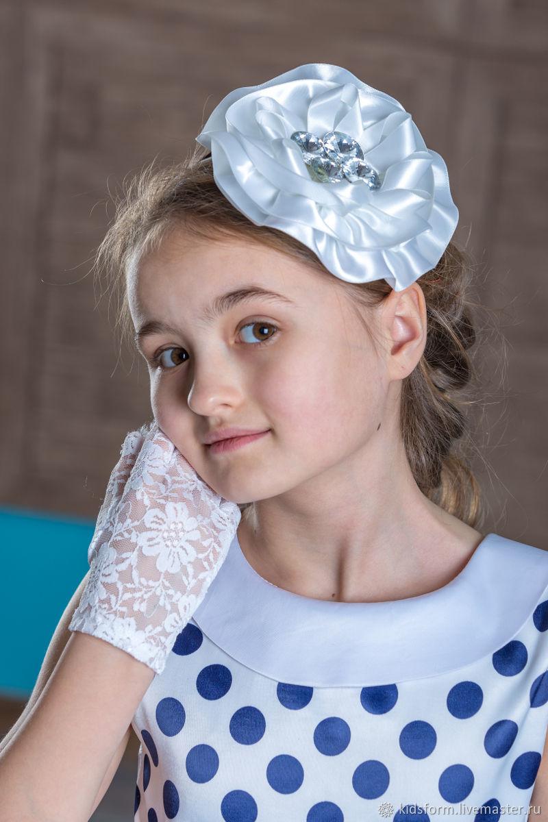 Нарядное платье для девочки ретро в горох Стиляги