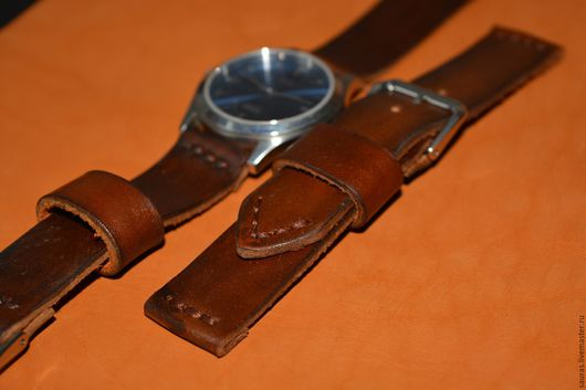 Часы ручной работы. Ярмарка Мастеров - ручная работа. Купить Ремешок для часов. Натуральная кожа. Ручная работа. Handmade. Коричневый