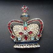 Винтажная брошь корона.Coro.