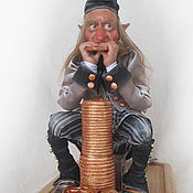 Куклы и игрушки ручной работы. Ярмарка Мастеров - ручная работа Эльф-скряга. Handmade.