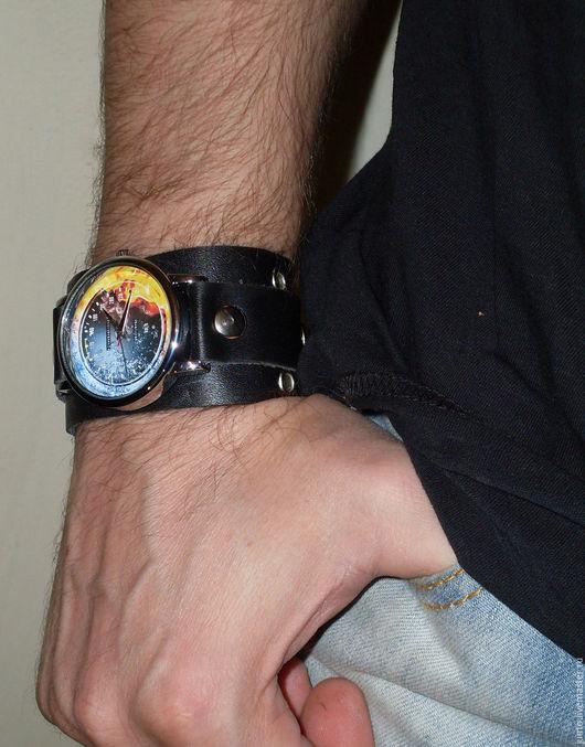 """Часы ручной работы. Ярмарка Мастеров - ручная работа. Купить Наручные мужские часы """"Спидометр"""". Handmade. Черный"""