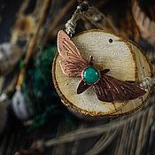 """Украшения ручной работы. Ярмарка Мастеров - ручная работа Кулон """"Лесной мотылек"""". Handmade."""