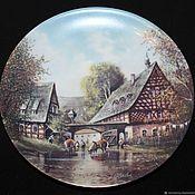 Винтаж handmade. Livemaster - original item Decorative plates