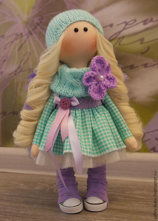 Коллекционные куклы ручной работы. Ярмарка Мастеров - ручная работа. Купить Текстильная куколка малышка Софи. Handmade. Мятный, блондинка