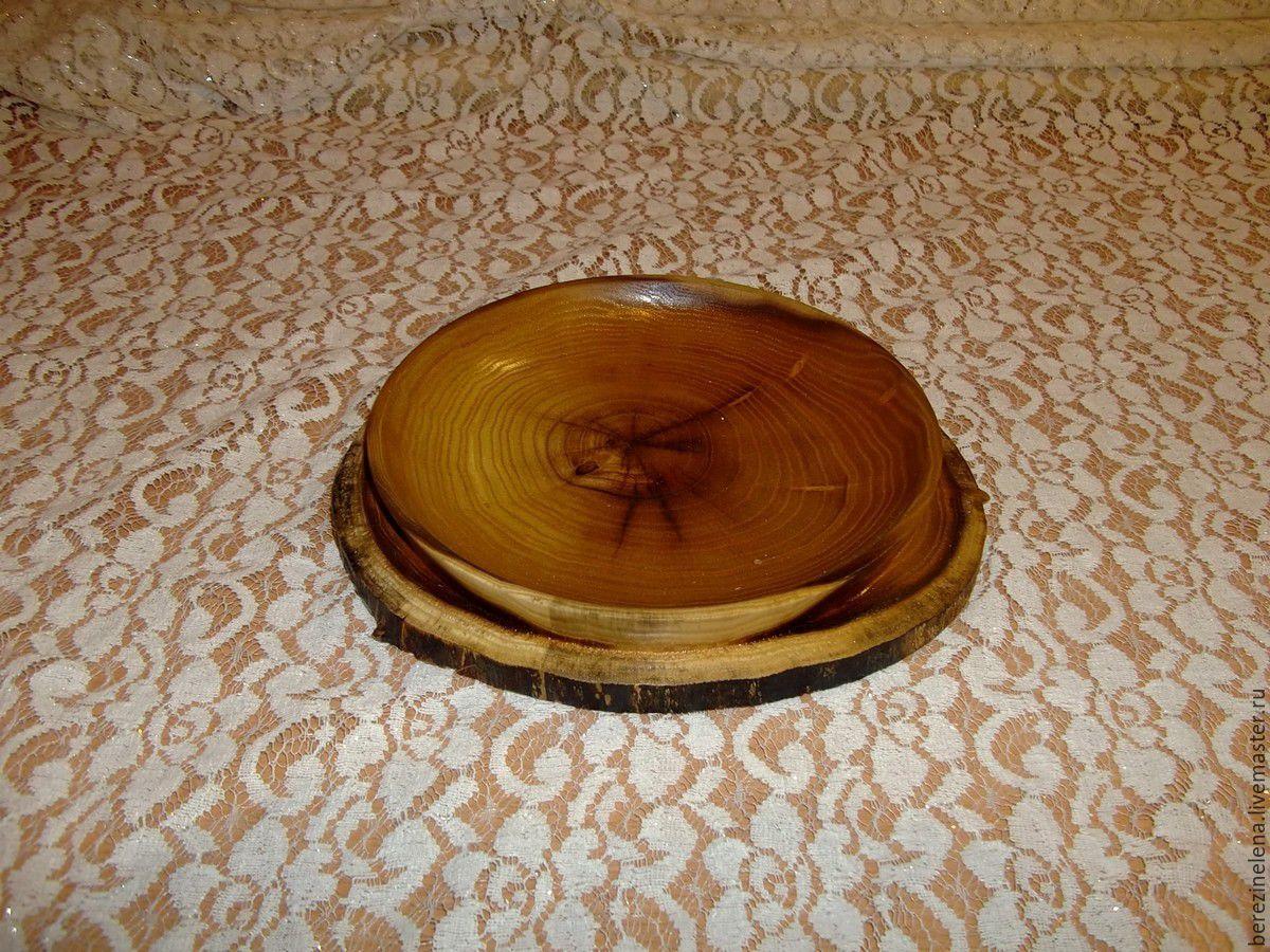 Посуда из спилов дерева