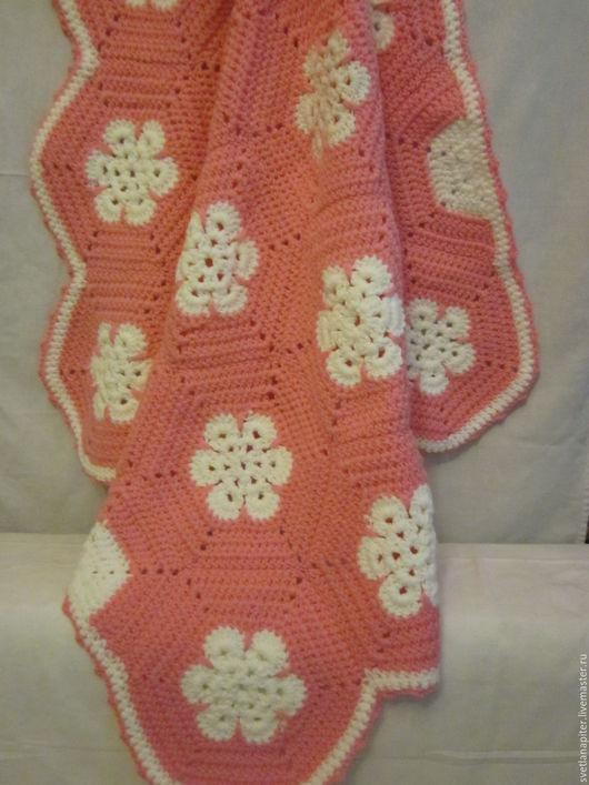 Пледы и одеяла ручной работы. Ярмарка Мастеров - ручная работа. Купить Детский плед Фламинго. Handmade. Розовый, плед на выписку