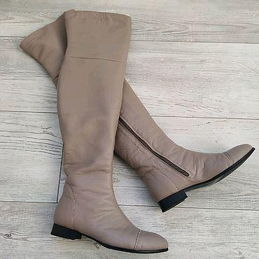 Обувь ручной работы. Ярмарка Мастеров - ручная работа Кожаные ботфорты. Handmade.