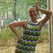 """Одежда ручной работы. Ярмарка Мастеров - ручная работа Вязаное платье """" Зигзаг  удачи"""". Handmade."""
