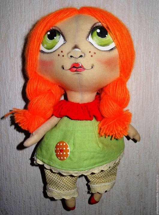 Коллекционные куклы ручной работы. Ярмарка Мастеров - ручная работа. Купить Рыжая мечтательница. Handmade. Рыжая девочка, текстильная кукла