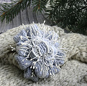 Украшения handmade. Livemaster - original item Flower brooch knitted Winter thorn large. New Winter collection.. Handmade.