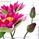 Интерьерные композиции ручной работы. Водяная лилия. Tanya Flower. Интернет-магазин Ярмарка Мастеров. Букеты из глины, водяная лилия