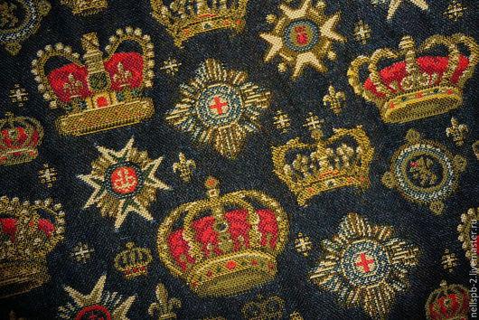 Шитье ручной работы. Ярмарка Мастеров - ручная работа. Купить Гобеленовая ткань с коронами. Handmade. Гобелен, рисунок