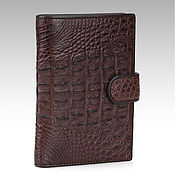 Сумки и аксессуары handmade. Livemaster - original item Crocodile leather purse with compartments for auto documents. Handmade.